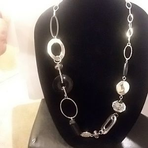 Chico's black and silver necklace